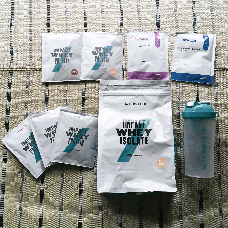 MyProteinから到着した商品一覧